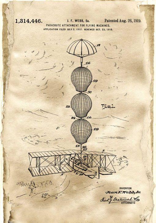 Plakat z rysunkiem patentowym - Zabezpieczenie samolotu