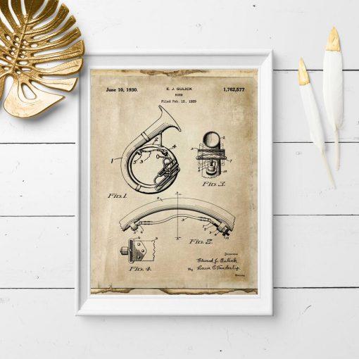 Plakat ze schematem budowy rogu blaszanego
