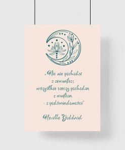 Plakat ze słowami Goddarda o podświadomości