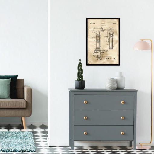 Poster dla lekarza - Patent na otoskop do salonu