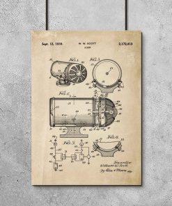 Poster z rysunkiem patentowym - Syrena alarmowa do garażu