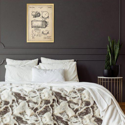 Poster z rysunkiem patentowym - Syrena alarmowa do sypialni