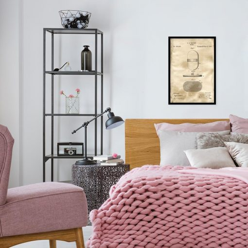 Poster z rysunkiem patentowym szczotki do pokoju