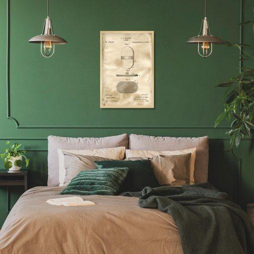 Poster z rysunkiem patentowym szczotki do sypialni