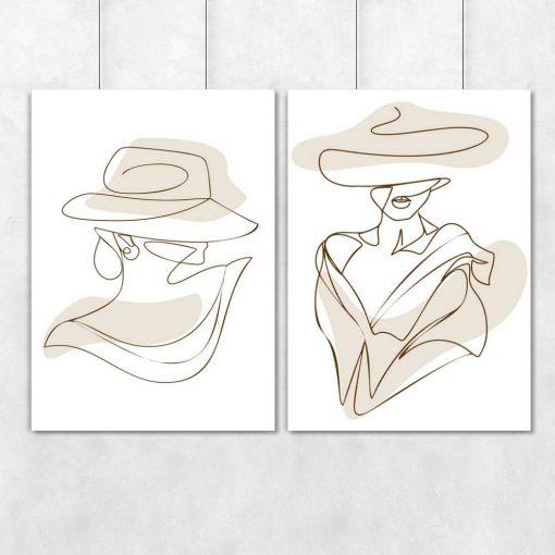 Dwa plakaty z kobiecą postacią