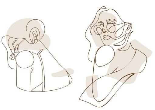 Dwa plakaty z okularnicą - minimalizm