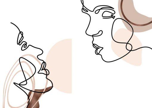 Dyptyk plakatowy z kobietą i mężczyzną