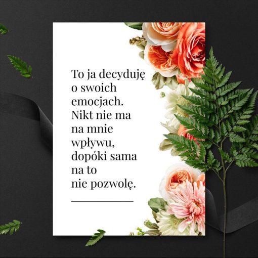 Kolorowy plakat z typografią