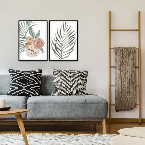 Komplet plakatów z roślinami