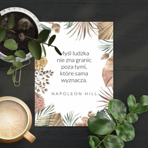 Plakat cytat Napoleona Hilla