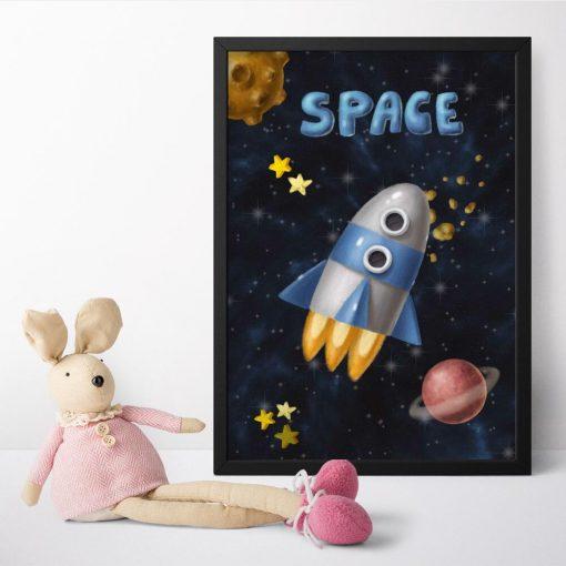 Plakat dla dzieci space