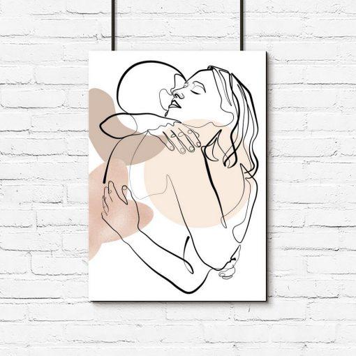 Plakat do oprawienia z rysunkami ludzi