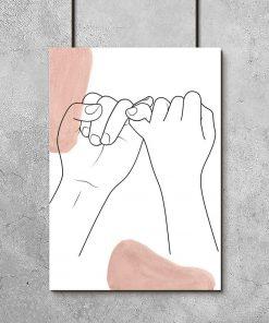 Plakat małe palce splecione