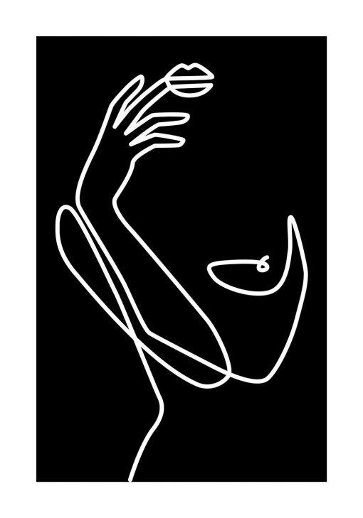 Plakat szkic - kobieta - minimalizm
