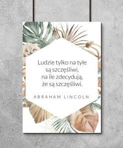 Plakat z cytatem znanej osoby