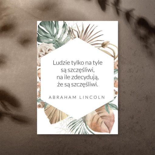 Plakat z maksymą Abrahama Lincolna
