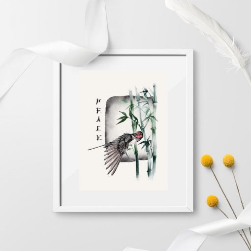 Plakat z napisem i ptaszkiem