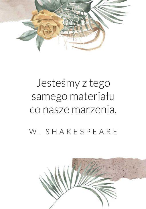 Plakat z typografią - W. Szekspir