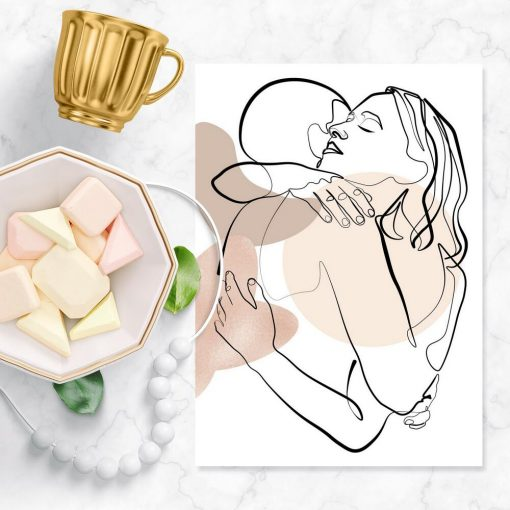Plakat z zakochanymi -szkic