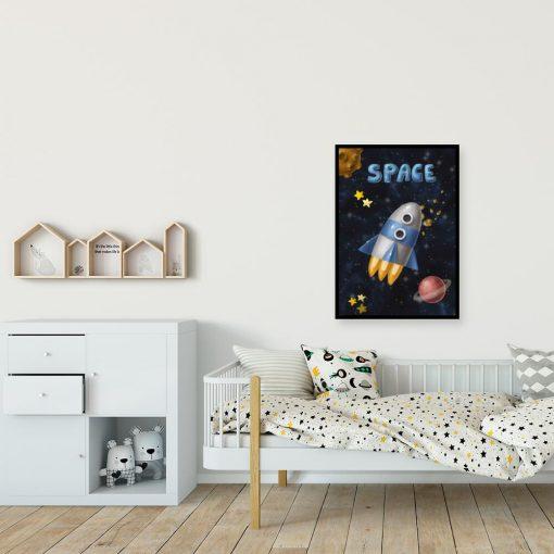 Plakat ze statkiem galaktycznym