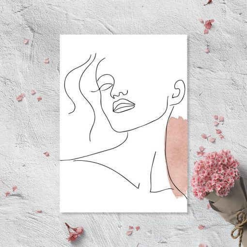Plakat ze szkicem buzi