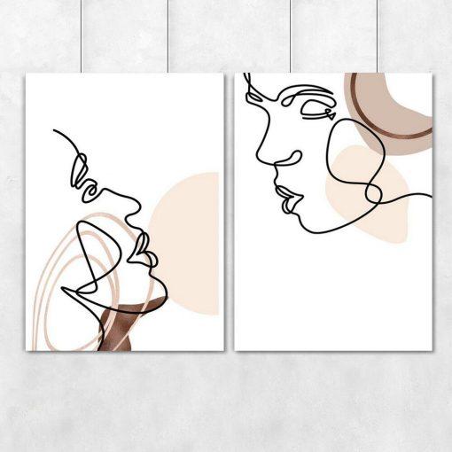 Plakaty do dekoracji sypialni lub salonu w stylu line art