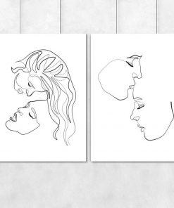 Plakaty line art szkice kobiet