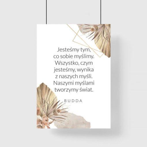 Słowa Buddy na plakacie