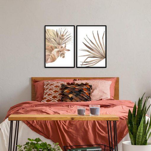 Tropikalne liście na plakatach