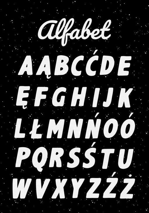 Edukacyjny plakat do przedszkola z alfabetem