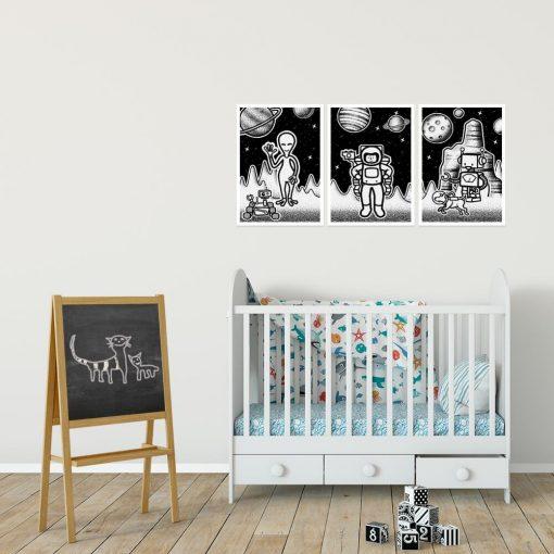 Kosmiczne plakaty dla dzieci do pokoju dziecka