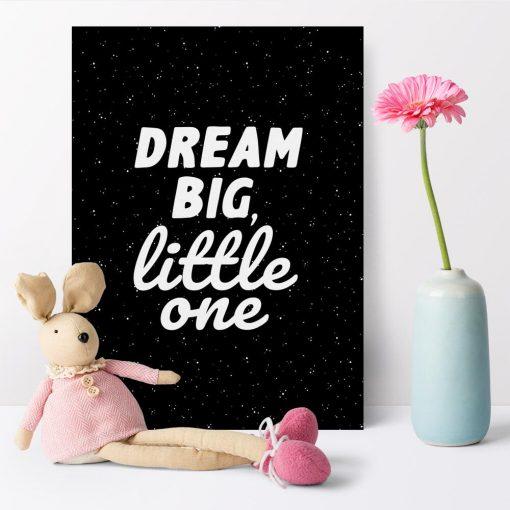 Plakat do pokoju dziecka z dewizą