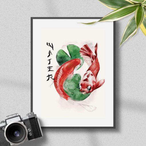 Plakat ozdobne karpie koi
