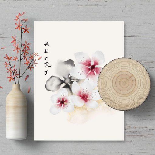Plakat z motywem kwiatowym do ramy