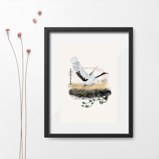 Plakat z motywem ptaka