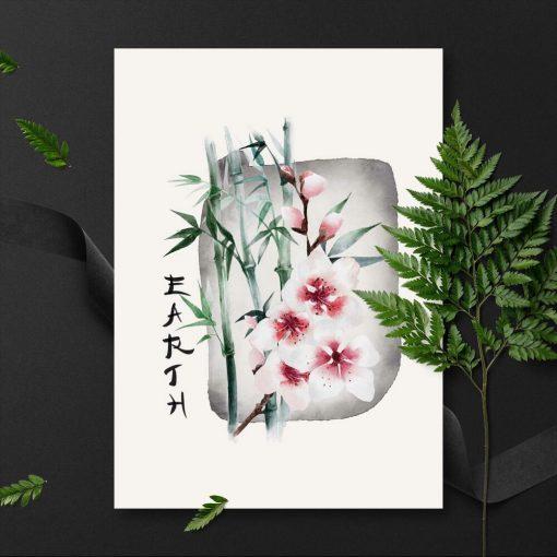 Plakat z napisem: earth do powieszenia w salonie