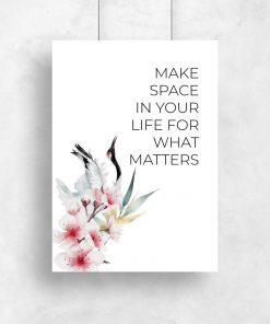 Plakat z życiowym hasłem